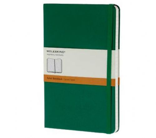 Green Large Ruled Notebook